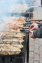 Meat roasting on the grill Royalty Free Stock Photo