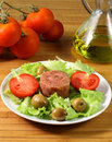Meat salad Stock Photography