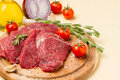 Meat in salt and pepper on a round plate Royalty Free Stock Photo