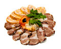 Meat slicing Stock Images