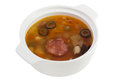 Meat soup in the bowl Royalty Free Stock Images