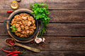Meat stew with cabbage Royalty Free Stock Photo
