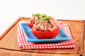 Meat stuffed tomatoes with ground Royalty Free Stock Photos