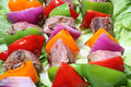 Meat Vegetable Kabobs Royalty Free Stock Photo