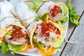 Meat wraps or fajitas with pork Royalty Free Stock Photo
