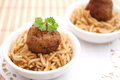 Meatball with rice a fresh Royalty Free Stock Photo
