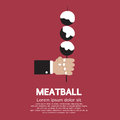 Meatball in skewer vector illustration Royalty Free Stock Photos