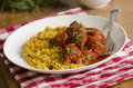 Meatballs with couscous Royalty Free Stock Photos