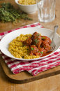 Meatballs with couscous Royalty Free Stock Images