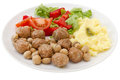 Meatballs with mushrooms Stock Photos