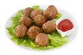 Meatballs  on the plate Stock Photography