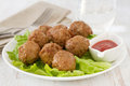 Meatballs  on the plate Royalty Free Stock Image