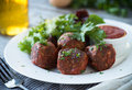 Meatballs and Salad Royalty Free Stock Photo