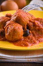 Meatballs with tomato sauce. Stock Photography