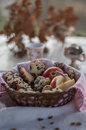 Meatless food for the christmas table Royalty Free Stock Photography