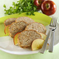 Meatloaf with apple Royalty Free Stock Image