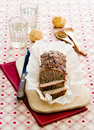 Meatloaf on beer a with spices wooden board Stock Photography