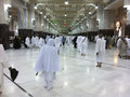 Mecca feb muslim pilgrims perform saei' brisk walking fr from safa mount from marwah mount on february in Royalty Free Stock Photography