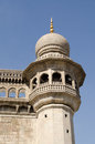Mecca masjid detail hyderabad one of the minaret towers at the historic mosque in india Stock Images