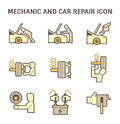 Mechanic car icon