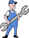 Mechanic with spanner Royalty Free Stock Photos