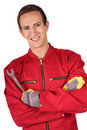 Mechanic trainee Stock Image
