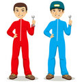 Mechanic Twins Stock Image