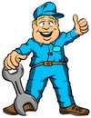 The mechanic vector illustration cartoon of a ready for work Royalty Free Stock Photos