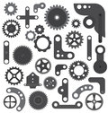 Mechanic wheels and gears  isolated Royalty Free Stock Photo