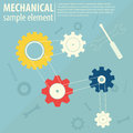 Mechanical background gears in progress concept Royalty Free Stock Photography