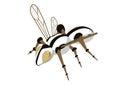Mechanical bee Royalty Free Stock Photo
