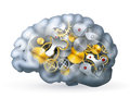 Mechanical brain Royalty Free Stock Image