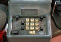 Mechanical calculator manual with worn keys Royalty Free Stock Photo