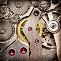 Mechanical clockwork. Stock Photos