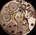 Mechanical clockwork. Royalty Free Stock Photos
