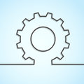Mechanical cog wheel abstract background vector illustration Stock Image