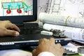 Mechanical Drafting Royalty Free Stock Photo