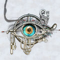 Picture : Mechanical eye future eye woman