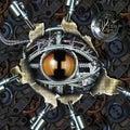 Mechanical eye Royalty Free Stock Photo