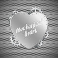 Mechanical heart Stock Photography