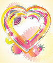 Mechanical light Valentine heart Royalty Free Stock Image
