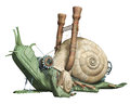 Mechanical snails d render of colorful Royalty Free Stock Photo