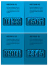 Mechanical timetable blue infographic design elements vector illustrtion Royalty Free Stock Image