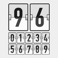 Mechanical timetable scoreboard information boar board display numbers illustration Stock Images