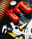 Mechanical tools and products Royalty Free Stock Image