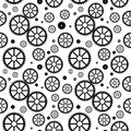 Mechanical wheels seamless Royalty Free Stock Images
