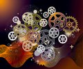 Mechanical world_gear_abstract_background Royalty Free Stock Photos