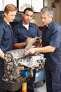 Mechanics at work Royalty Free Stock Photo