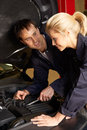 Mechanics at work Royalty Free Stock Photo