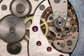 Mechanism of analog hours Royalty Free Stock Photo